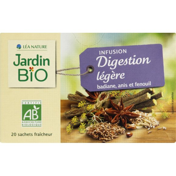 Jardin Bio Infusion Digestion Legere Badiane Anis Fenouil