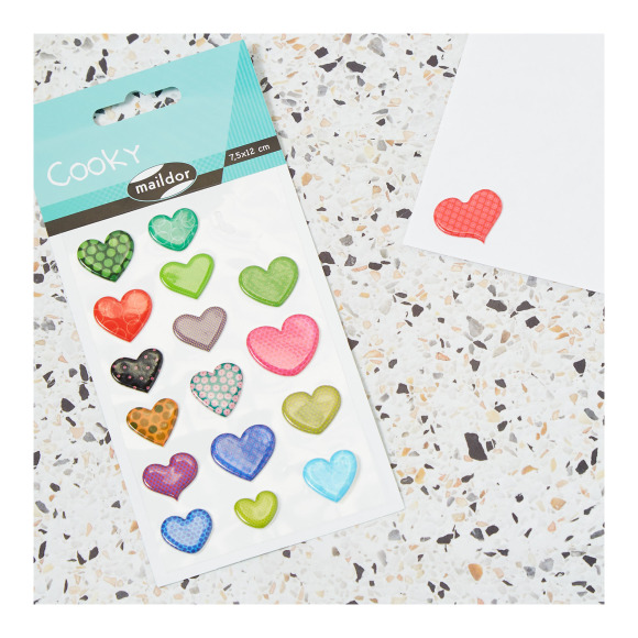 Stickers motifs coeurs Clairefontaine