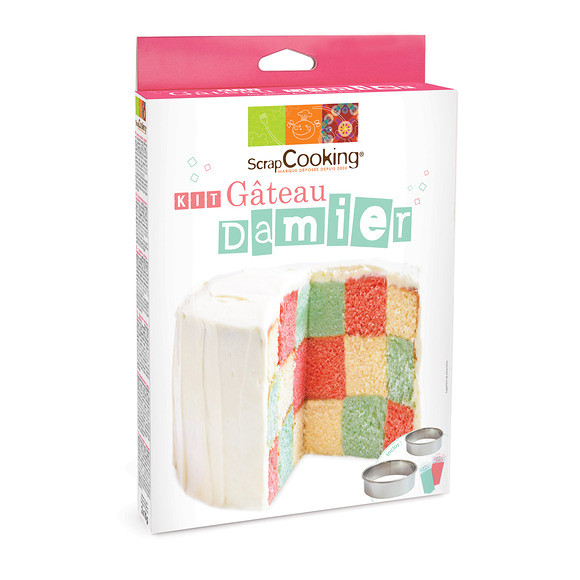 Kit gateau damier Scrapcooking