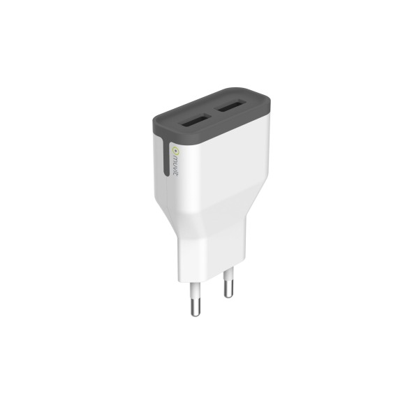 Chargeur 2 ports Muvit