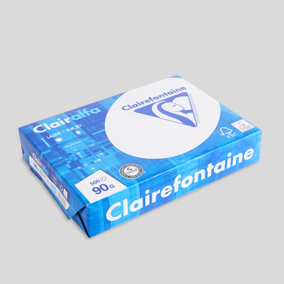 500 feuilles a4, blanches, 90gr/m² Clairefontaine
