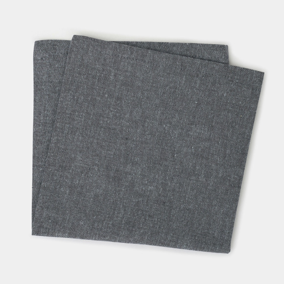 Serviette de table chambray noir Monoprix Maison