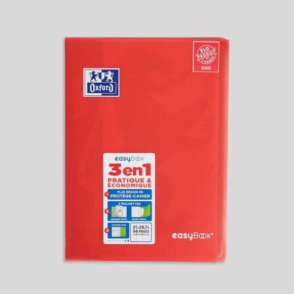 Cahier easy book a4, 96 pages, grands carreaux Oxford