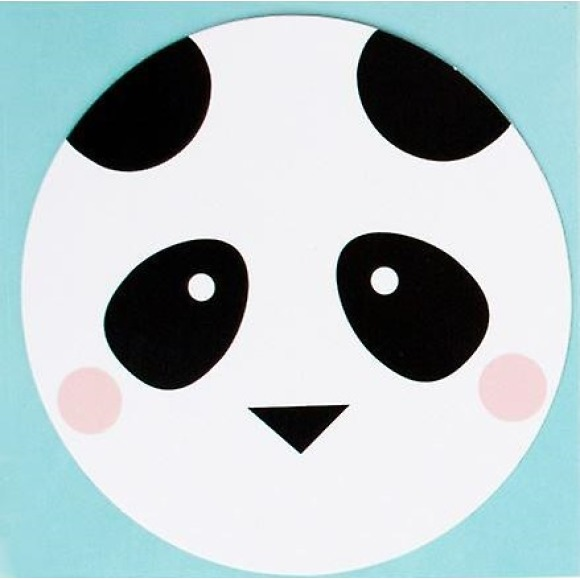 Lot de 8 cartons d'invitation mini pandas My Little Day