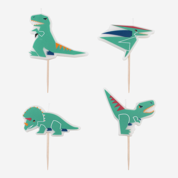 Lot de 4 bougies dinosaures My Little Day