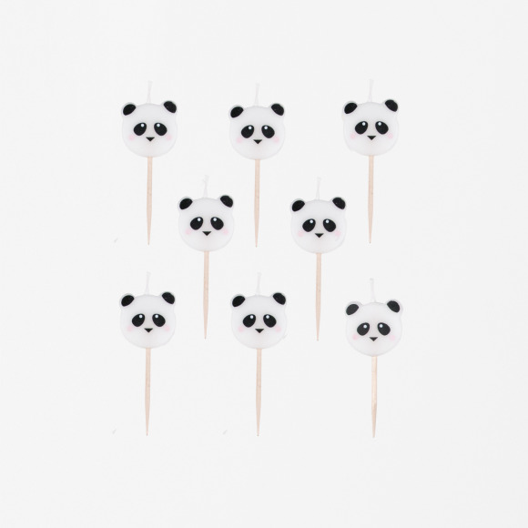 Lot de 8 bougies mini pandas My Little Day