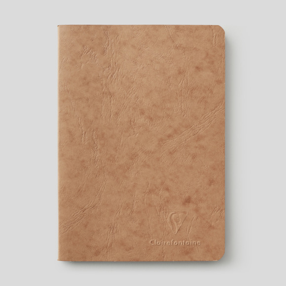 Carnet 14,8x21cm, 48 pages, couleur tabac Clairefontaine