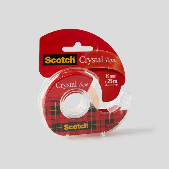 Ruban adhésif invisible crystal + dévidoir Scotch