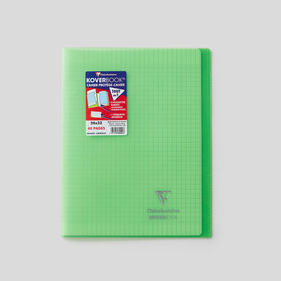 Cahier kover book 24x32cm, 48 pages Clairefontaine
