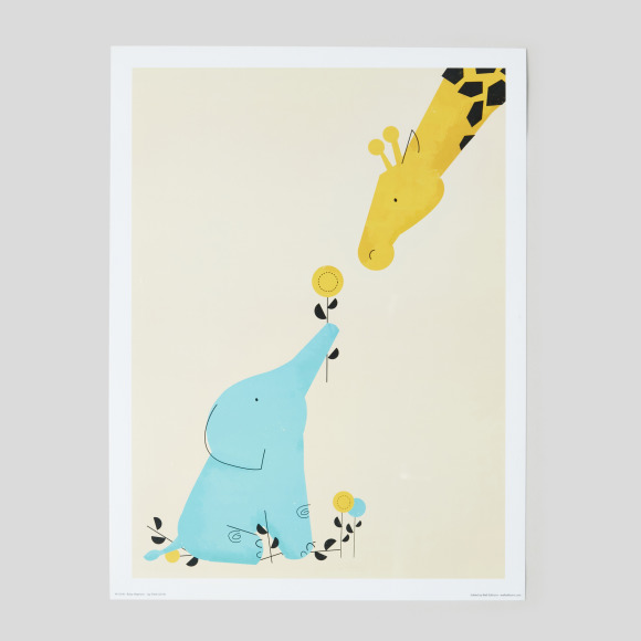 Affiche baby elephant, 30x40cm Wall Editions