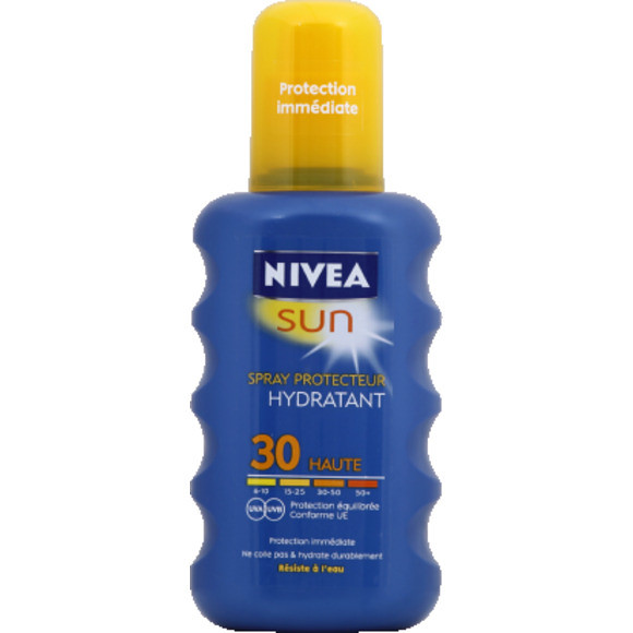 nivea spray protecteur hydratant haute 30 protection quilibr e uva uvb. Black Bedroom Furniture Sets. Home Design Ideas