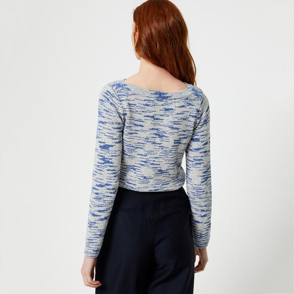 Pull en point fantaisie mouliné Monoprix Femme
